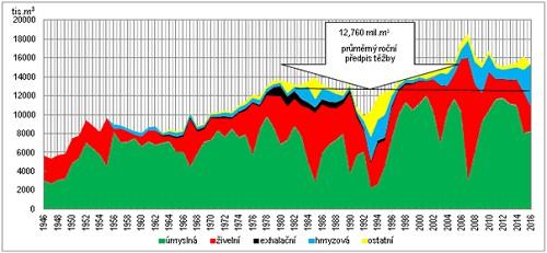 Vývoj těžeb dříví