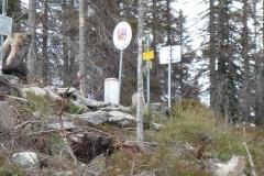Hranice s Rakouskem nad Plešným jezerem